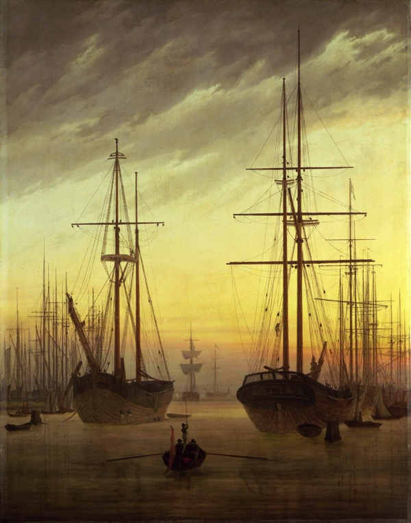 Caspar David Friedrich Ansicht eines Hafens